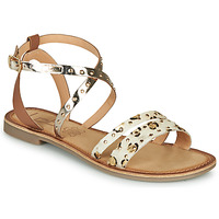 Schuhe Damen Sandalen / Sandaletten Les Petites Bombes AGATHE Gold