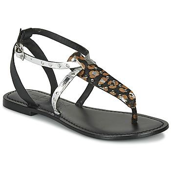 Schuhe Damen Sandalen / Sandaletten Les Petites Bombes ALIX Schwarz / Silbern
