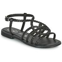 Schuhe Damen Sandalen / Sandaletten Les Petites Bombes ARIA Schwarz