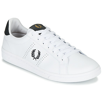 Schuhe Herren Sneaker Low Fred Perry B721 LEATHER Weiss