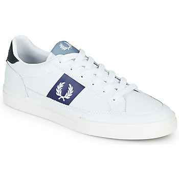 Schuhe Herren Sneaker Low Fred Perry B8198 LEATHER / WHITE / NAVY Weiss