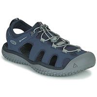 Schuhe Herren Sportliche Sandalen Keen SOLR SANDAL Blau / Grau
