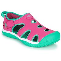 Schuhe Mädchen Sportliche Sandalen Keen STINGRAY Violett / Blau