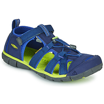 Schuhe Kinder Sportliche Sandalen Keen SEACAMP II CNX Blau / Grün