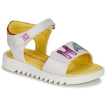 Schuhe Mädchen Sandalen / Sandaletten Agatha Ruiz de la Prada SMILES Weiss