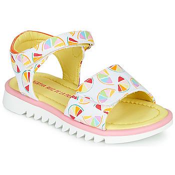 Schuhe Mädchen Sandalen / Sandaletten Agatha Ruiz de la Prada SMILES Weiss / Multifarben