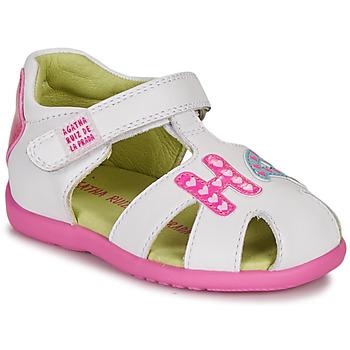 Schuhe Mädchen Sandalen / Sandaletten Agatha Ruiz de la Prada HAPPY Weiss / Rose