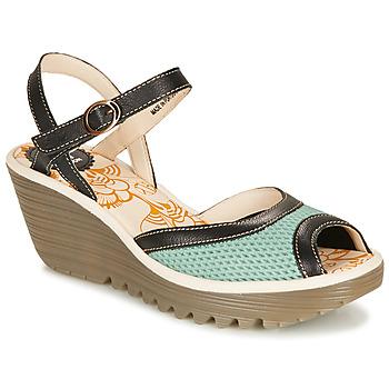 Schuhe Damen Sandalen / Sandaletten Fly London YANS Blau / Schwarz