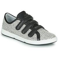 Schuhe Damen Sneaker Low Pataugas JULIETTE Schwarz / Weiss
