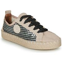 Schuhe Damen Leinen-Pantoletten mit gefloch Pataugas PANKE Beige