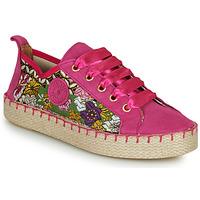 Schuhe Damen Leinen-Pantoletten mit gefloch Pataugas PANKE Rose