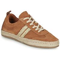 Schuhe Damen Leinen-Pantoletten mit gefloch Pataugas PIA Cognac / Gold
