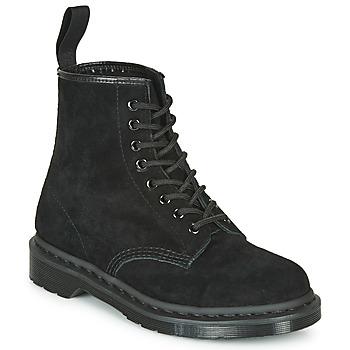 Schuhe Boots Dr Martens 1460 MONO SOFT BUCK Schwarz