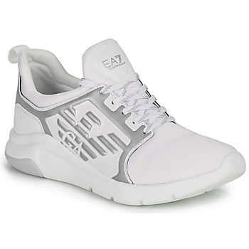 Schuhe Sneaker Low Emporio Armani EA7 RACER REFLEX CC Weiss / Silbern