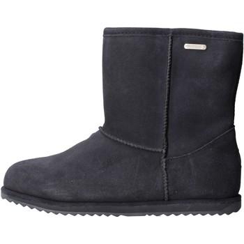 Schuhe Mädchen Schneestiefel EMU - Stivale blu camoscio K10773 BLU