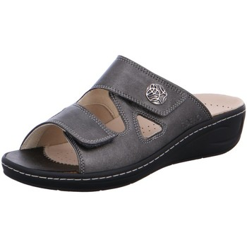 Schuhe Damen Pantoffel Fidelio Pantoletten 434103-18 grau