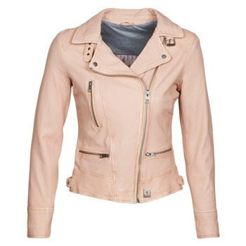 Kleidung Damen Lederjacken / Kunstlederjacken Oakwood VIDEO Beige / Rose