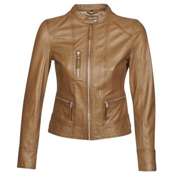 Kleidung Damen Lederjacken / Kunstlederjacken Oakwood EACH Cognac