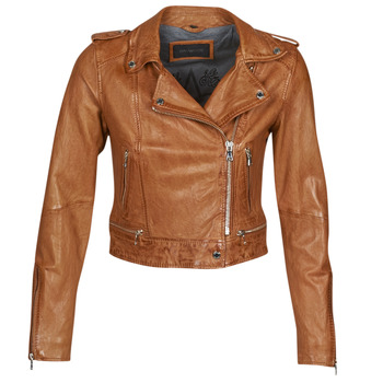 Kleidung Damen Lederjacken / Kunstlederjacken Oakwood KYOTO Cognac