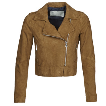 Kleidung Damen Lederjacken / Kunstlederjacken Oakwood PHOEBE Cognac