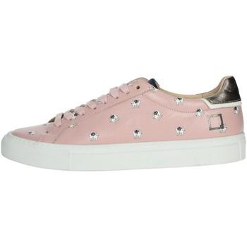 Schuhe Damen Sneaker Low Date I19-28 Rosa