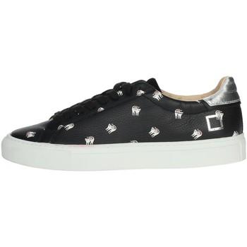 Schuhe Damen Sneaker Low Date I19-39 Schwarz
