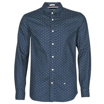 Kleidung Herren Langärmelige Hemden Pepe jeans ADAN Marine