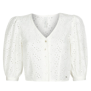 Kleidung Damen Tops / Blusen Pepe jeans CLAUDIE Weiss