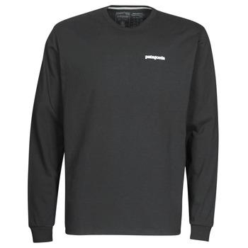 Kleidung Herren Langarmshirts Patagonia M's L/S P-6 Logo Responsibili-Tee Schwarz