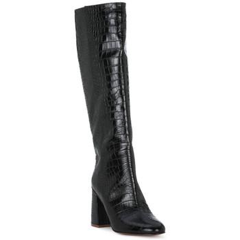 Schuhe Damen Klassische Stiefel Priv Lab COCCO NERO Nero