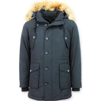 Kleidung Damen Parkas Tony Backer Winterjacken Mit Pelz Parka Blau