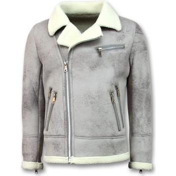 Kleidung Herren Jacken Tony Backer Jacke Mit Kunstfell Lammy Coat Beige
