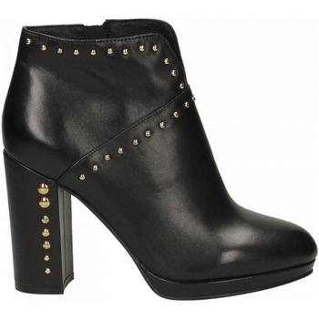 Schuhe Damen Ankle Boots Café Noir TRONCHETTO TACCO ALTO E PLATEAUX CON APERTURA DAVA 010-nero