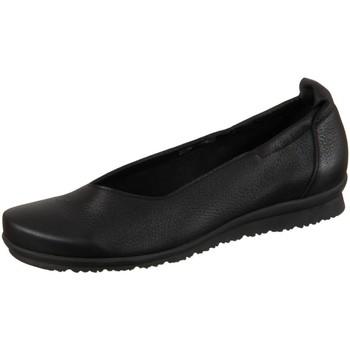 Schuhe Damen Ballerinas Arche Slipper Barege Barege noir Cerf Pleine Fleur Barege schwarz