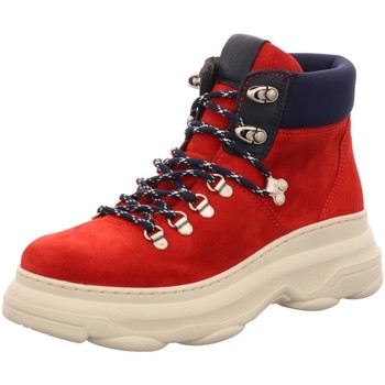 Schuhe Damen Boots Marc O'Polo Stiefeletten 90815336301-315-345 rot