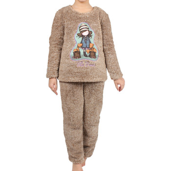 Kleidung Mädchen Pyjamas/ Nachthemden Admas Pyjama langärmelige Hose Corel The Foxes braun Santoro London Violett/oranget