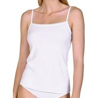 Unterwäsche Damen Unterhemden Lisca Emma  Tanktop mit dünnem Riemen Weiß