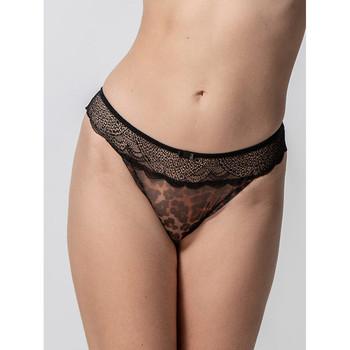 Unterwäsche Damen Tangas Luna Brasilianische Wildkatze schwarz  Splendida Perlschwarz