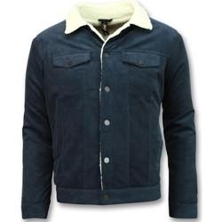 Kleidung Herren Jacken Tony Backer Jeansjacke Trucker Jacket Blau