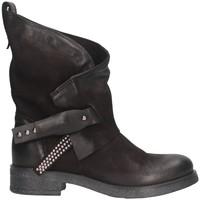 Schuhe Damen Low Boots Metisse B L56 Biker Frau schwarz schwarz