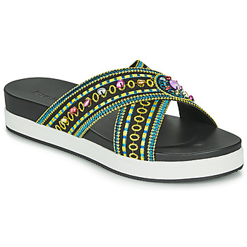 Schuhe Damen Pantoffel Desigual SHOES_NILO_BEADS Schwarz