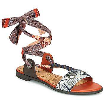 Schuhe Damen Sandalen / Sandaletten Desigual JUNGLE AFRICA Marine / Weiss