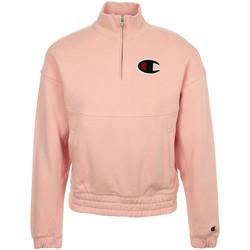 Kleidung Damen Sweatshirts Champion Half Zip Sweatshirt Rose