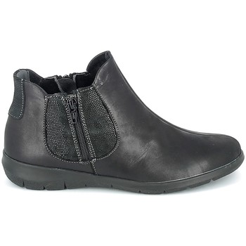 Schuhe Damen Boots Boissy Boots Noir texturé Schwarz