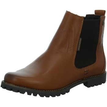 Schuhe Damen Low Boots Dockers by Gerli Stiefeletten Brauner Boot in Chelsea Optik 41IY203/120470 braun