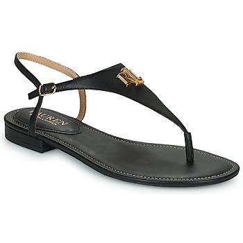 Schuhe Damen Sandalen / Sandaletten Lauren Ralph Lauren ELLINGTON SANDALS CASUAL Schwarz