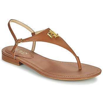 Schuhe Damen Sandalen / Sandaletten Lauren Ralph Lauren ELLINGTON SANDALS CASUAL Cognac