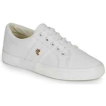 Schuhe Damen Sneaker Low Lauren Ralph Lauren JANSON II Weiss