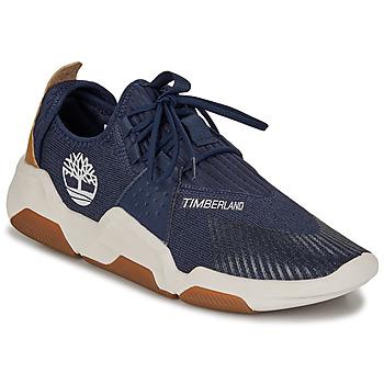 Schuhe Herren Sneaker Low Timberland Earth Rally Flexiknit Ox Blau