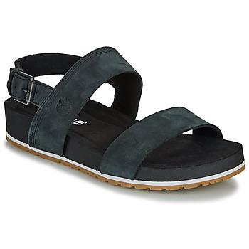 Schuhe Damen Sandalen / Sandaletten Timberland Malibu Waves 2Band Sandal Schwarz